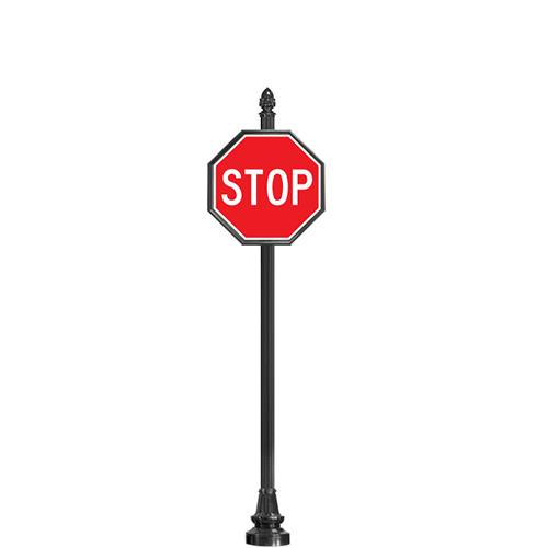 CAD Drawings Brandon Industries Complete Stop Sign with SB-94 Base