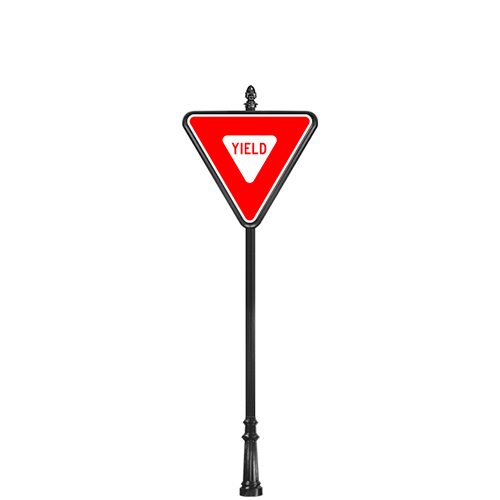 "CAD Drawings Brandon Industries Complete 36"" Yield Sign with SB-64 Base"