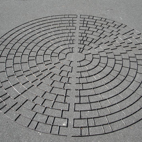 CAD Drawings Pattern Paving Products Stamped Asphalt: Circle