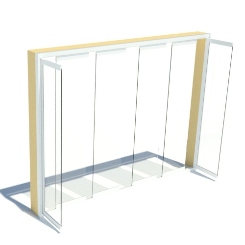 CAD Drawings BIM Models Cover Glass USA Frameless Sliding Glass Doors